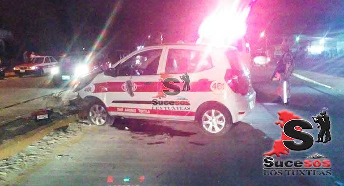 Muere taxista de San Andrés Tuxtla en accidente carretero, en Cosoleacaque