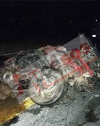 Accidente Mortal en la carretera Federal Sayula – Cd. Alemán, saldo 4 personas muertas