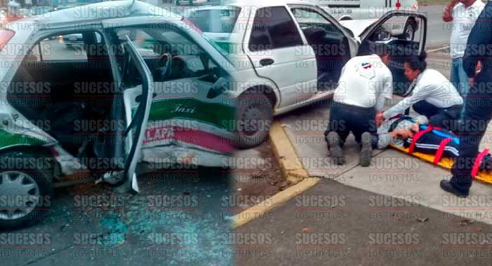 2 lesionados tras incidente vial en Xalapa